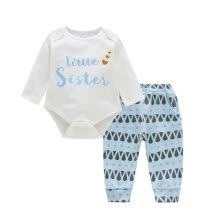 -Children Cotton Cute Letter Print Long Sleeve T-shirt Round Collar Casual Tops + Pants on JD