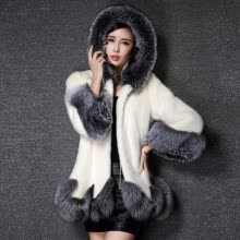 -New the Coats Women Long Sleeve Parka Outwear Fox Fur Coat on JD