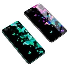 -MOONCASE Apple iPhone 5/5S/SE Luminous Glass Shell - Butterfly Flying on JD