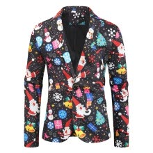 -Men Christmas Suit Jacket Candy Tree Snowmen Printed Adults Xmas Fancy Dress on JD