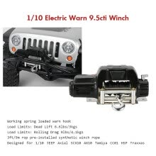 -1/10 Mini Electric Warn 9.5cti Winch for RC 1/10 JEEP Axial SCX10 AX10 RC Car on JD
