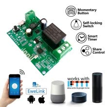 -5V-12V Self-locking Sonoff WiFi Wireless Smart Switch Relay Module APP Control on JD