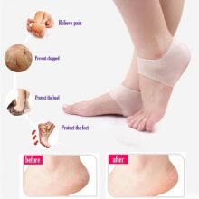 shoe-accessories-Silicone Moisturizing Gel Heel Sock Cracked Foot Skin Care Protector Gift Ankle Support on JD