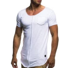 -Fashion Personality Men's Casual Slim Short-sleeved Shirt Top Blouse on JD
