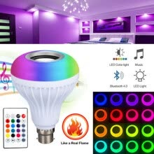 -E27 Multiple Modes Dimmable RGBW Remote Control Bluetooth Music Light LED Smart Colorful Music Bulb Stage Light For IOS /Android on JD