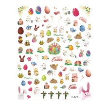 -TOYFUNNY Easter Waterproof Nail Sticker Self-Adhesive Paper Easter Nail Sticker on JD