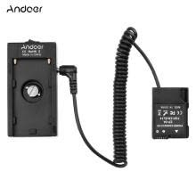 -Andoer NP-F970 F750 Battery Plate Holder Adapter + EN-EL14 Dummy Battery Coupler Compatible with  D3100/D3200/D5100/D5200/COOLPIX on JD
