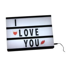 -Momine Lovely LED Lightbox With 96 Letters and Symbols Cinema Light Box with USB Cable on JD