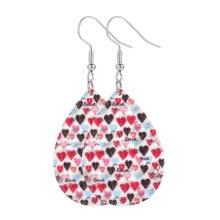 -TOYFUNNY Valentine s Day Series Drop-Shaped Heart-Shaped Printed Earrings Jewelry on JD