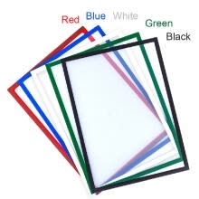 -Magnetic File Frame Transparent PVC Document Display Frame for A4 Size Letter Paper Photo Picture Work Schedule on JD