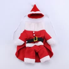 -Funny Cosplay Standing Coat Clothes for Christmas Pet Dogs Teddy Bichon Wear red XL on JD