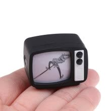 -1:12 Dollhouse Miniature TV Television With Picture Model Toys Accessories on JD