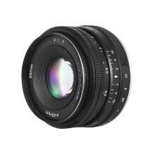 -35mm F1.7 Large Aperture Manual Prime Fixed Lens for  E-Mount Digital Mirrorless Cameras NEX 3 NEX 3N NEX 5 NEX 5T NEX 5R NEX 6 7 on JD