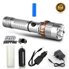 -Tactical Flashlight with 18650 Rechargeable Batteries and Charger on JD