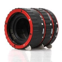 -High quality Colorful Metal TTL Auto Focus AF Macro Extension Tube Ring for Canon EOS EF EF-S 60D 7D 5D II 550D Red on JD