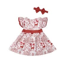 -Toddler Kids Baby Girls 6M-5T XMAS Deer Bowknot Pageant Party Wedding Princess Dress on JD