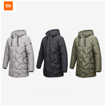 -Xiaomi Youpin Fashion Cloth Men Medium Length Thick Down Jacket Seamless Three-dimensional Plush Thick Jacket for Men on JD