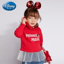 -Disney Disney self-employed children's clothing girls small children's tide cool skirt sweater 2019 spring and summer new DA9166A7E02 bright red 90 on JD