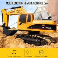 diecasts-toy-vehicles-1/24 RC Excavator RC Car Construction Tractor Kids Toy with Lights & Sounds on JD