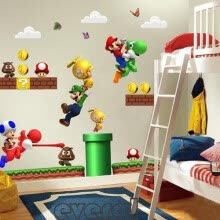 -Super Mario Bros Removable Vinyl Wall Decals Sticker Room Decor Kids Nursery ukl on JD