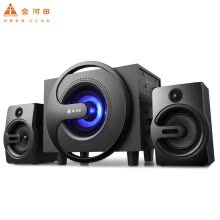 -Golden field Q8 black 2.1 multimedia computer audio desktop notebook subwoofer 3.5mm mobile computer universal interface subwoofer speaker on JD