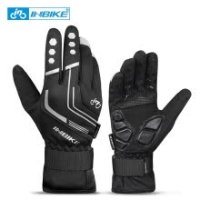 -INBIKE 2019 Winter Cycling Gloves Gel Padded Thermal Full Finger Bike Bicycle Gloves Touch Screen Windproof Women Men's Gloves on JD