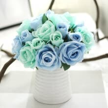 artificial-plants-Rose flower artificial flower simulation flower  Wedding bouquet home decoration on JD