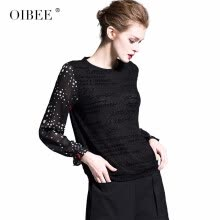 875061823-OIBEE2019 spring women's new fashion printing round neck fight chiffon sleeve short shirt was thin chiffon shirt female on JD