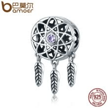 beads-jewelry-making-BAMOER Genuine 925 Sterling Silver Beautiful Dream Catcher Holder Beads fit Charm Bracelet Necklace DIY Jewelry Christmas SCC330 on JD