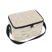 -Lunch Box Insulated Lunch Bag Large Cooler English Script Pattern Tote Bagfor Kids, Men, Women on JD