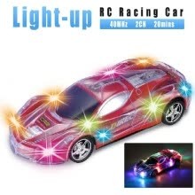 -S222 Racing Car 1:24 RC Sports Car Spectacular Flashing LED Lights Radio Control Vehicle Gift Toy for Kids Boys and Girls on JD