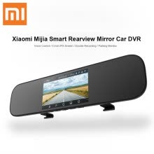 -Xiaomi Mijia Smart Car Dash Camera 5 inch IPS Rearview Mirror Car DVR Voice Control Driving Recorder 160 Degrees Parking Monitor on JD