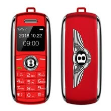 -Portable mini bluetooth call dual Card MP3 mobile phone  with speaker recording straight player car keychain play music dialer on JD