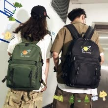 -Schoolbag Female Korean High School Students Workwear Port Fashion Brand Backpack Male ins Street Backpack Original Style in Europ on JD