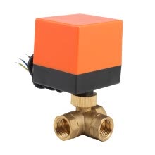 -230V Electric Motorized Thread Ball Valve Air-conditioning Water System Controller 3-way 3-wire on JD