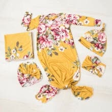 -US 3Pcs Baby Muslin Floral Snuggle Swaddling Wrap Blanket Newborn Swaddle Towel on JD