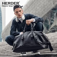 -Herden herder travel bag men business travel handbag diagonal bag lightweight large capacity business fashion simple luggage bag S8830 black on JD