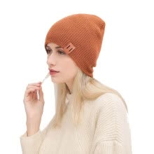 -Autumn and Winter Fashion Women Men Unisex 9 Color Wool Knit Hat Solid Color Warm Winter Ear Protection Casual Hedging Cap on JD