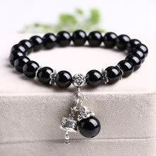 -Fashion black agate bracelet zodiac couple bracelets jewelry on JD