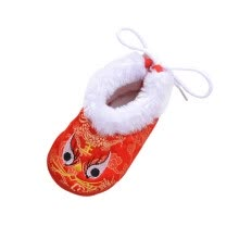 -Winter Newborn Baby Shoes Chinese Style Traditional Baby Boys Girls Shoes Warm Cotton First Walkers Cartoon Girl Shoes on JD