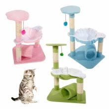 -Ktaxon 28' Pet Club Cat Tree Condo House Scratcher Furniture with Hammock Toy 3 Colors on JD