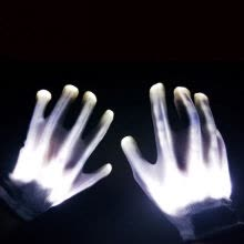-Halloween Party Cosplay Party Personality LED Light Funny Gloves Finger Lighting Electric Skeleton on JD