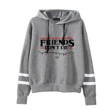 -Herqw61 Women's Stranger Things Movie Fans Hoodie Friends Don't Lie Print Striped Sleeve Sweatshirt on JD