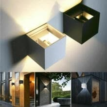-Modern LED COB Wall Light Up Down Cube Sconce Lamp Fixtures Waterproof IP65 on JD