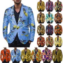 -Mens Casual Slim Fit Formal One Button Suit Blazer Coat Jacket Tops Plus Size on JD