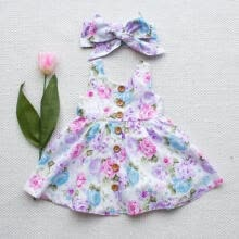 -Baby Girl Floral Dress Kid Party Wedding Pageant Formal Dresses Sundress Clothes on JD