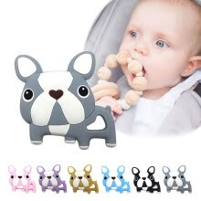 -Baby Boys Girls Newborn Teething Toys For Children BPA Silicone Free Soft Silicone Cartoon Animal Teethers With Pacifier Clip on JD