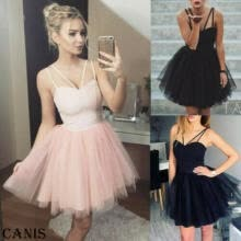 -Women Strappy Short Tulle Tutu Dresses Evening Party Cocktail Ball Prom Gown on JD
