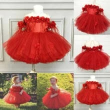 -Princess Wedding Party Prom Birthday Dress Skirt Tutu Dresses for Baby Girl 1-6Y on JD