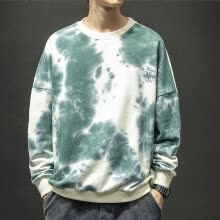 -(Toponeto) New style For Men In Autumn And Winter Fashion Tie-Dyed Round-Necked Garment on JD